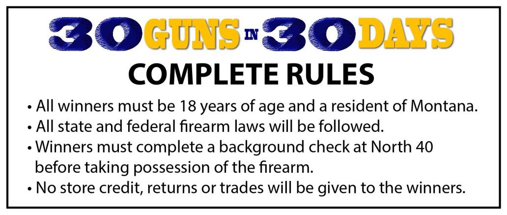 30 Guns Rules