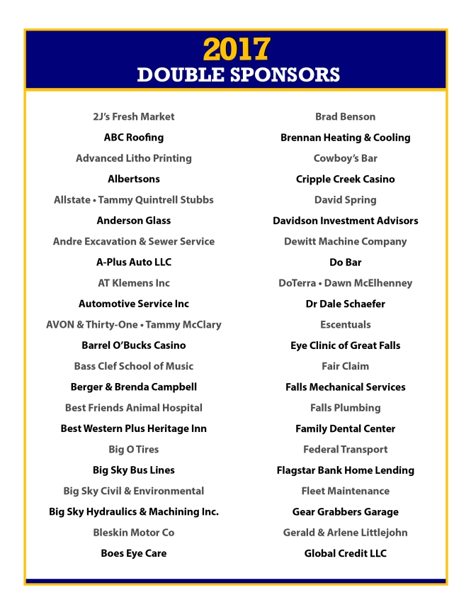 2017 Double Sponsors Page 1
