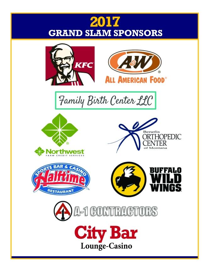 2017 Grand Slam Sponsors